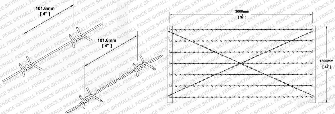 barbed wire fencing cad